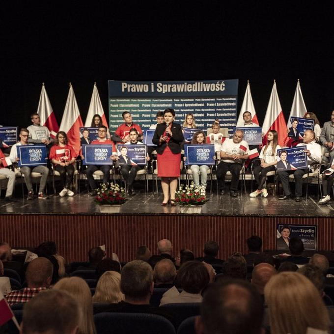 Beata Szydło speaking in Kęty on the future of Europe